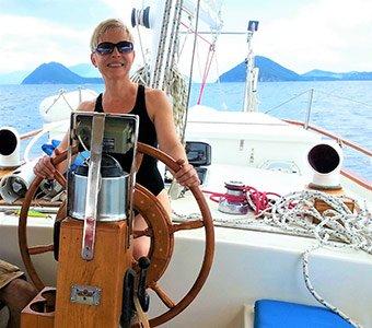 Teresa sailing